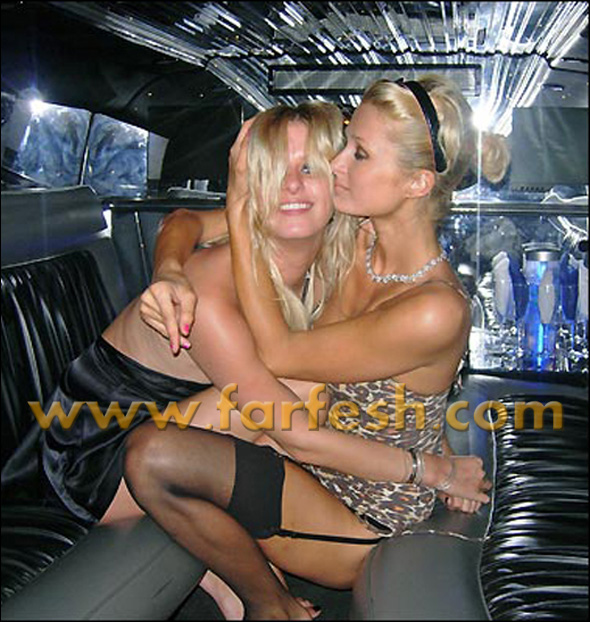 Paris Hilton and her sister playacting at mocking the taboo of incest.