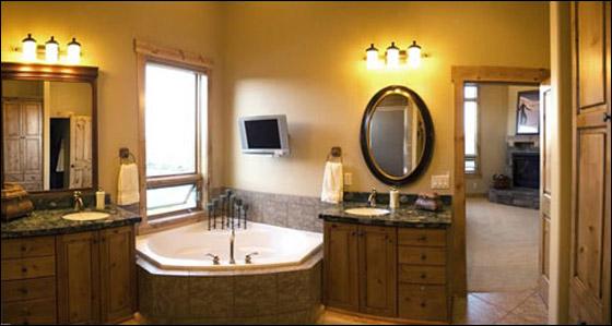 Bathroom Lighting Pictures Gallery: إضاءة الحمام.. بين السحر، الكلاسيكية والرومانسية