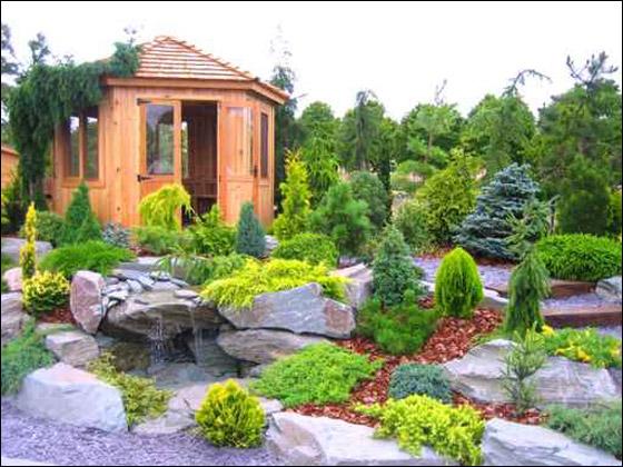 اجمل حديقة للمنزل 2015   تصميمات حدائق للمنزل 2016  اجمل حديقة منزلية بالورود