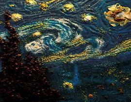 صورة رقم 1 - فنانة تعيد خلق لوحات فان غوخ عن طريق.. التوابل والبهارات