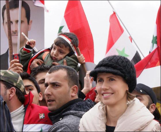 صورة رقم 5 - بعد صمت طويل.. أسماء الاسد تؤيد النظام في قمع الثورة السورية