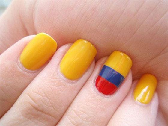 طلاء أظافر مستوحي مونديال البرازيل nails_05.jpg