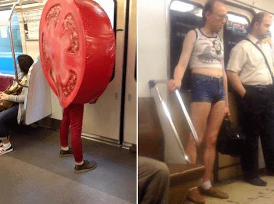 صورة رقم 3 - صور غريبة: تصرفات ركاب المواصلات العامة لم تكن تتوقعها!