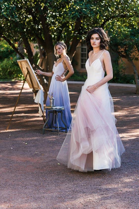 02f344849d6fa صورة رقم 11 - صور فساتين الزفاف العصرية  الوان الربيع اصبحت تمتزج باللون  الابيض