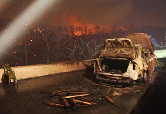 صورة رقم 21 - عجز اسرائيل في مواجهة الحرائق حجب ثقة عن نتنياهو الذي يؤثر النباح على العرب