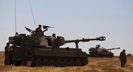 صورة رقم 2 -  سقوط صاروخ اطلق من غزة على عسقلان والجيش الاسرائيلي يرد
