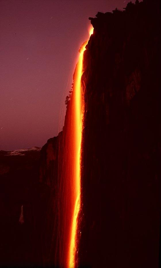 صورة رقم 4 -  صور رائعة: سر شلالات كاليفورنيا النارية ذات اللون الأحمر!