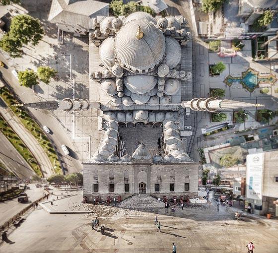 صورة رقم 1 - صور غريبة بأبعاد مذهلة يلتقطها مصور تركي بطائرات درون
