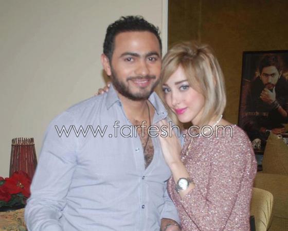 صورة رقم 2 - صور بسمة بوسيل زوجة تامر حسني بدون ماكياج ولا عدسات ملونة