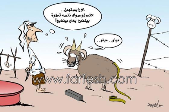 صورة رقم 12 - صور مضحكة: 32 كاريكاتير خروف العيد، وكل عام وأنتم بخير..