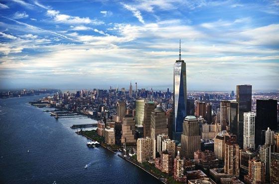 شاهد برج الحرية المقام مكان مركز التجارة العالمي المدمر في 11 سبتمبر صورة رقم 3