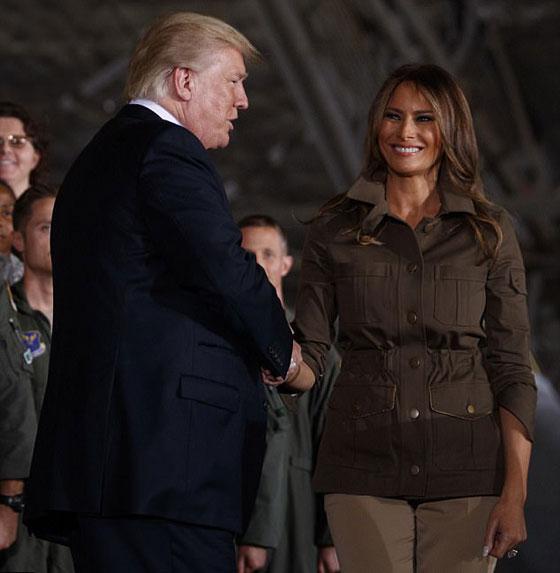 صورة رقم 3 - الرئيس الأمريكي دونالد ترامب  يهين زوجته ميلانيا على العلن.. فيديو