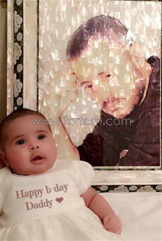 صورة رقم 7 - صور ابنة سلطان الطرب: ندى زيدان تنشر صور عيون جورج وسوف بعيدها الثاني