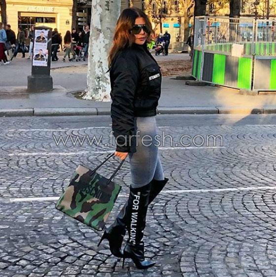 صورة رقم 2 - صور هيفاء وهبي تشعل المواقع ببنطالها الضيق المثير!
