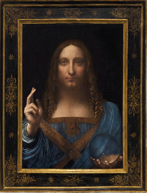 صورة رقم 2 - فيديو وصور.. لوحة المسيح لدافينشي تحطم سعراً قياساً كأغلى لوحة يتم بيعها بمزاد