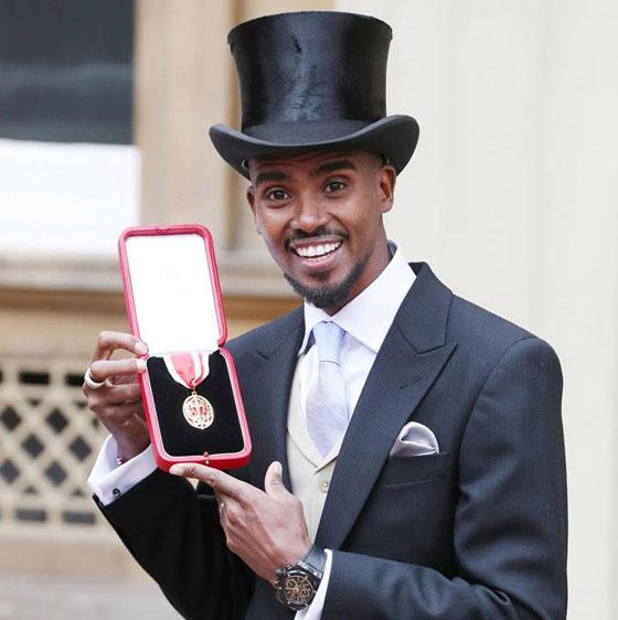صورة رقم 5 - ملكة بريطانيا تكرم العداء الصومالي محمد فرح وتمنحه لقب