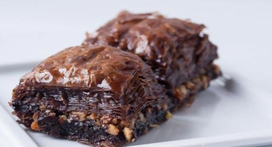 صورة رقم 3 - وصفة لتحضير البقلاوة بالشوكولاتة الشهية
