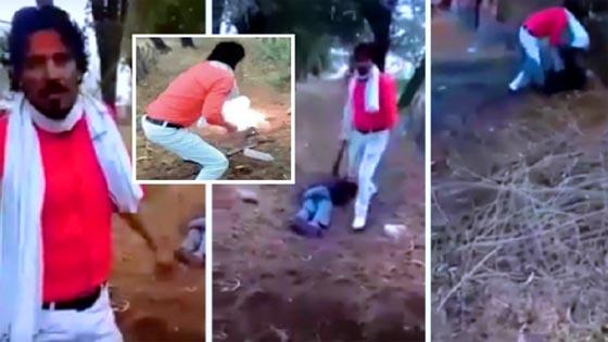 صورة رقم 3 - فيديو مروع: هندي يقتل مسلماً ويحرقه بتهمة تلويث شرف الهندوس!