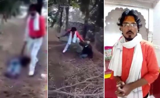 صورة رقم 1 - فيديو مروع: هندي يقتل مسلماً ويحرقه بتهمة تلويث شرف الهندوس!