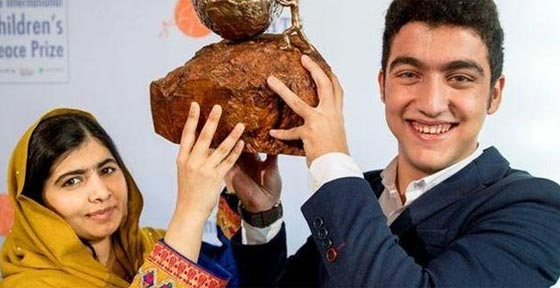 صورة رقم 2 - سوري لاجئ يفوز بجائزة السلام الدولية للأطفال وقيمتها 100 الف يورو