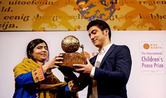 صورة رقم 3 - سوري لاجئ يفوز بجائزة السلام الدولية للأطفال وقيمتها 100 الف يورو