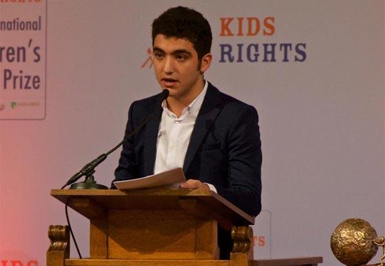 صورة رقم 5 - سوري لاجئ يفوز بجائزة السلام الدولية للأطفال وقيمتها 100 الف يورو