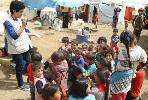 صورة رقم 8 - سوري لاجئ يفوز بجائزة السلام الدولية للأطفال وقيمتها 100 الف يورو