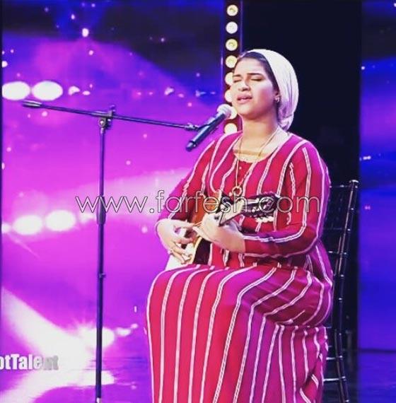 صورة رقم 7 - نجمة عرب غوت تالنت المغربية إيمان الشميطي تغني للهضبة وتحدث ضجة كبيرة