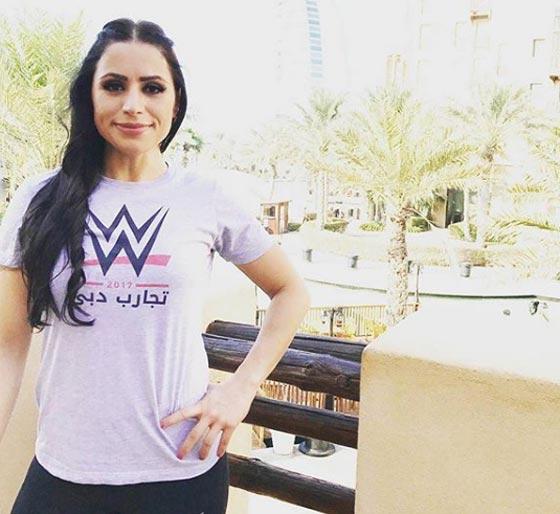 صورة رقم 4 - فيديو وصور الاردنية شادية بسيسو اول مصارعة عربية تنضم لـ WWE