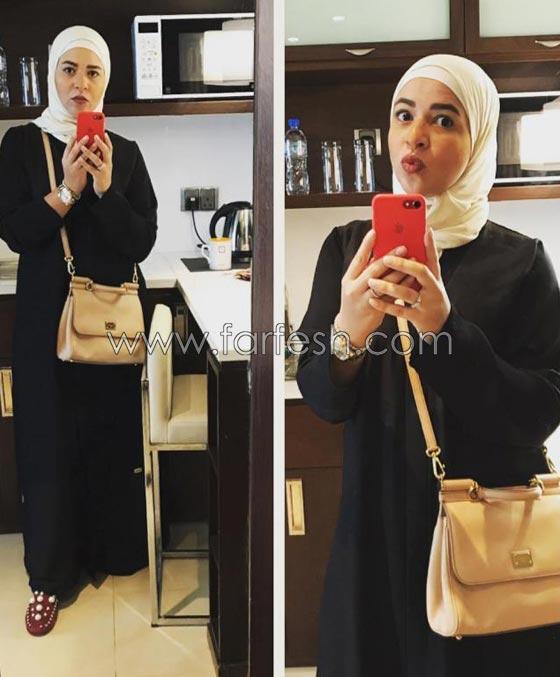 صورة رقم 1 -  صور ايمي سمير غانم بالحجاب والعباءة.. هل اعتزلت الفن؟
