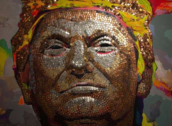 صورة رقم 3 - وجه ترامب بعملات رخيصة تثبت: المال لا يجعلك انسانا عظيما!