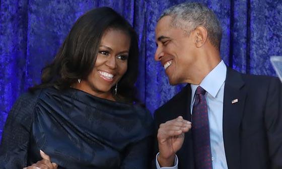 صورة رقم 7 - اوباما يسخر من شكله ويتغزل في صورة زوجته ميشيل