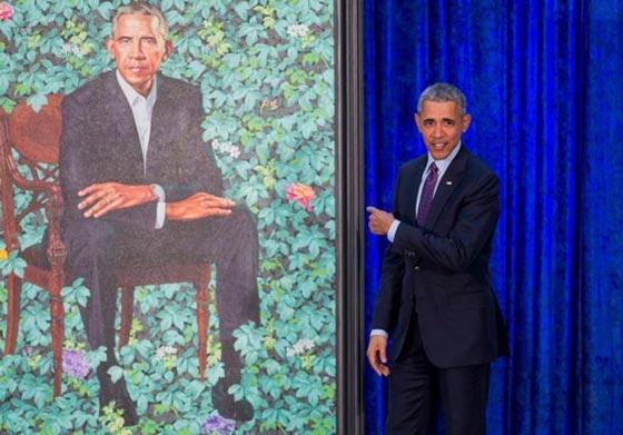 صورة رقم 4 - اوباما يسخر من شكله ويتغزل في صورة زوجته ميشيل