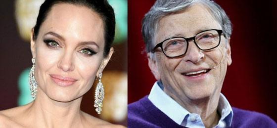 أنجلينا جولي وبيل غيتس يتصدران قائمة الشخصيات الأكثر إثارة للإعجاب في العالم صورة رقم 1