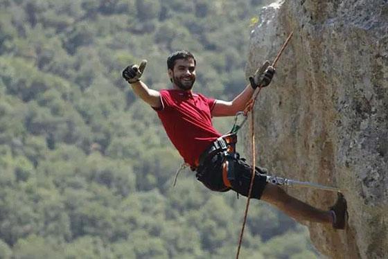 صورة رقم 4 - الفلسطيني جراح الحوامدة.. هزم جبل افرست برجل واحدة