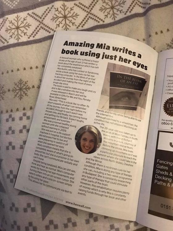 صورة رقم 7 - قصة شابة اصابتها سكتة دماغية..كتبت كتابًا بعينيها فقط