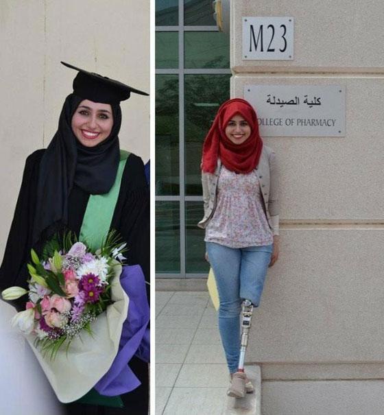 صورة رقم 8 - تعرفوا على الشابة العراقية التي تحدت إعاقتها بسبب دموع والدتها!