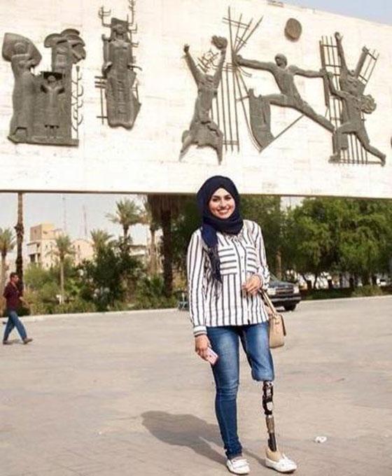صورة رقم 13 - تعرفوا على الشابة العراقية التي تحدت إعاقتها بسبب دموع والدتها!