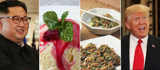 صورة رقم 6 - بالفيديو والصور..  مائدة طعام كيم وترامب خلال قمتهما التاريخية