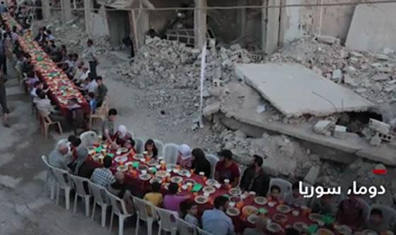 صورة رقم 4 -  بالفيديو والصور.. جولة حول موائد إفطار المسلمين في انحاء العالم