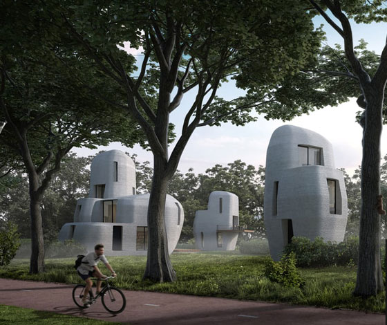 بالفيديو والصور.. أول مبنى سكني في العالم مبني بالطباعة ثلاثية الأبعاد  صورة رقم 1