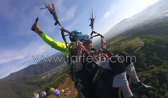 عجوز تايوانية (93 عاما) تقوم بمغامرة جنونية بجولة طيران مظلي صورة رقم 4