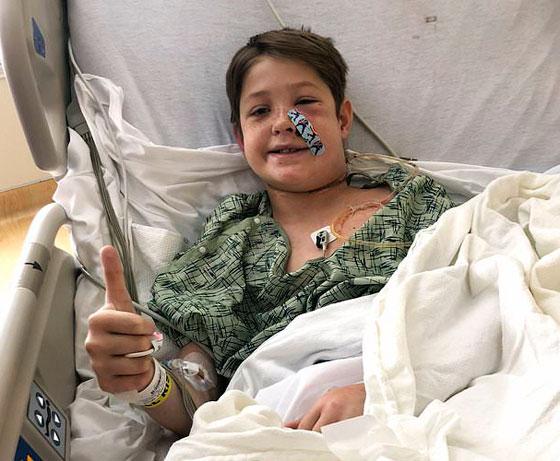 نجاة طفل (10 سنوات) من الموت بأعجوبة بعد اختراق سيخ لحم معدني لرأسه! صورة رقم 8