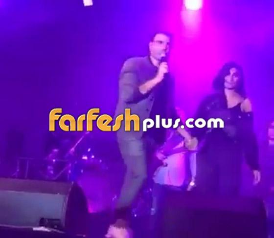 تسريب فيديو لعمرو دياب على المسرح يقبّل دينا الشربيني ويهمس (بحبك) صورة رقم 11