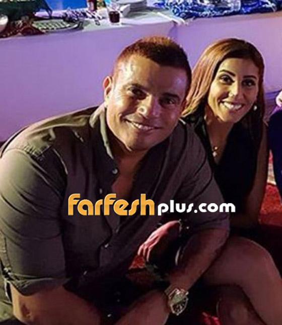 تسريب فيديو لعمرو دياب على المسرح يقبّل دينا الشربيني ويهمس (بحبك) صورة رقم 15