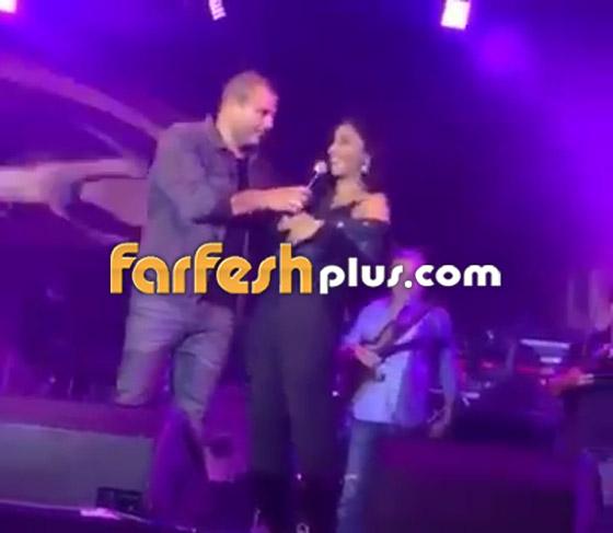 تسريب فيديو لعمرو دياب على المسرح يقبّل دينا الشربيني ويهمس (بحبك) صورة رقم 10