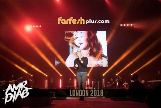تسريب فيديو لعمرو دياب على المسرح يقبّل دينا الشربيني ويهمس (بحبك) صورة رقم 5