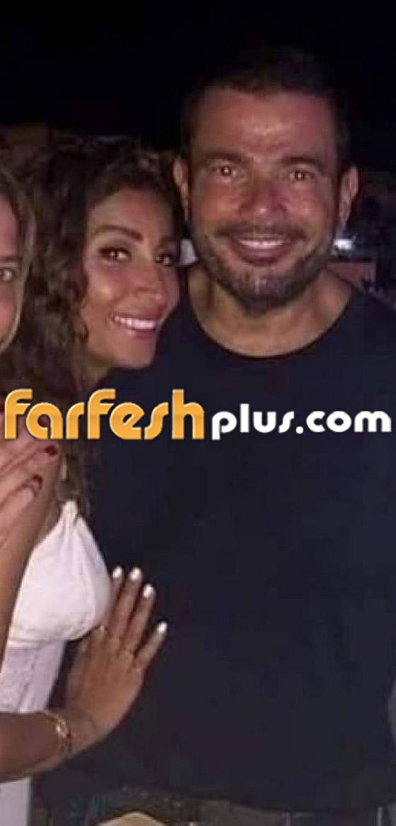 تسريب فيديو لعمرو دياب على المسرح يقبّل دينا الشربيني ويهمس (بحبك) صورة رقم 3