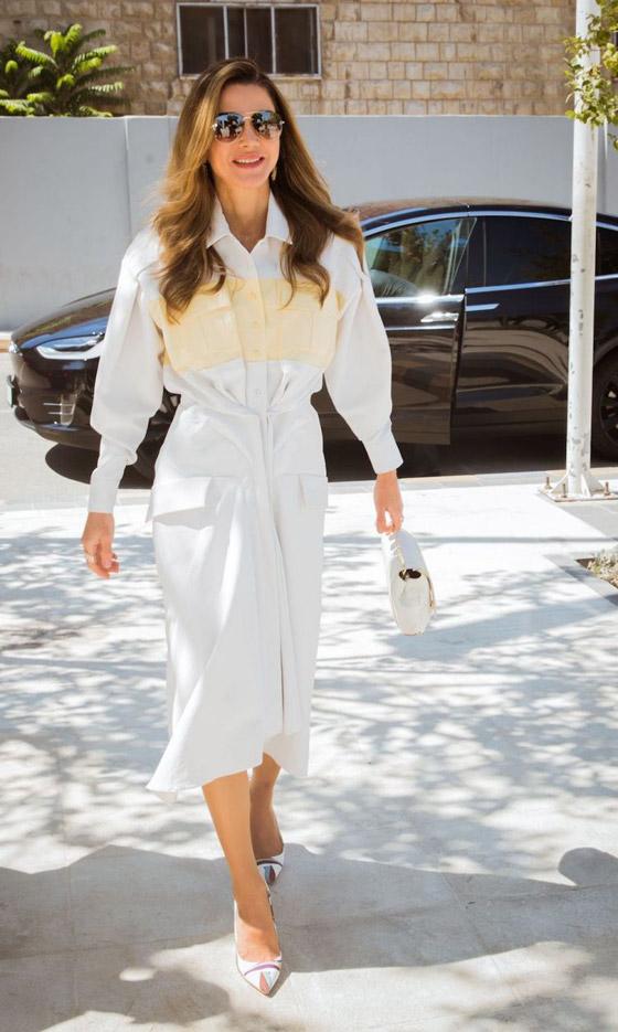صور الملكة رانيا تتألق بأزياء مصممين عرب لتشجيع الابداع العربي صورة رقم 34