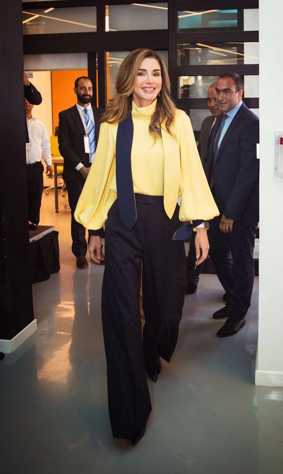 صور الملكة رانيا تتألق بأزياء مصممين عرب لتشجيع الابداع العربي صورة رقم 37